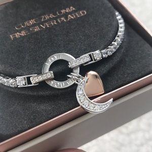 "Jewelry - NIB ""Love You More"" Silver Bracelet"